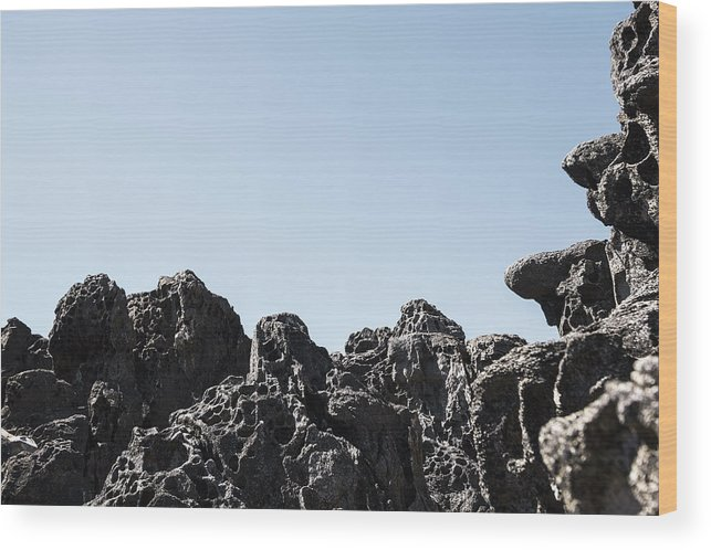 Tafoni Wood Print featuring the photograph Dark Tafoni by Studio Janney