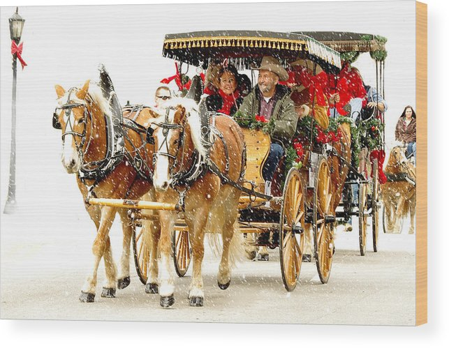 Photography Wood Print featuring the photograph Dashing Through The Snow by Jenny Gandert