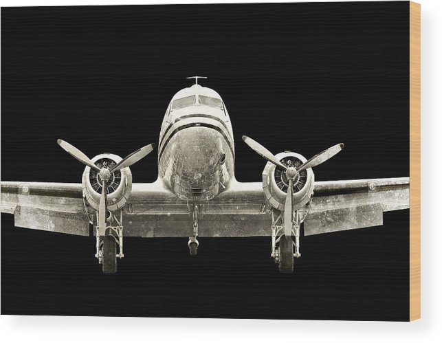 Restoration Wood Print featuring the photograph dc3 by Paul Fell