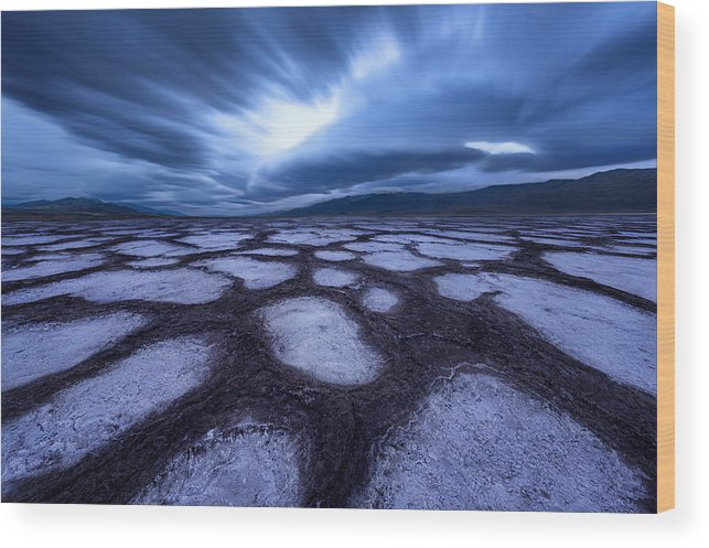 Landscape Wood Print featuring the photograph Death Valley by Qiang Huang
