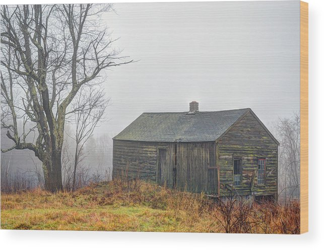 Barn Wood Print featuring the photograph December Fog by Geoffrey Coelho