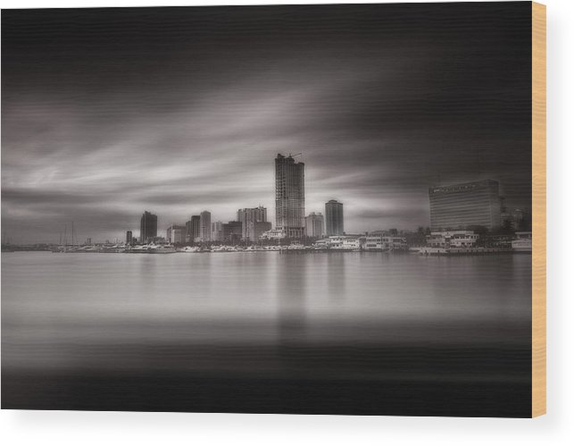 Landscape Wood Print featuring the photograph Deep And Motion by Allan Borebor