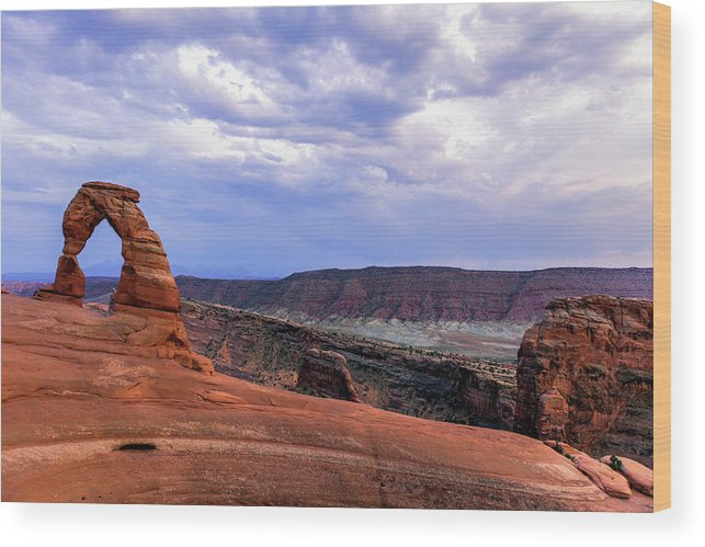 Landscape Wood Print featuring the photograph Delicate Arch Located In Arches by Ben Horton