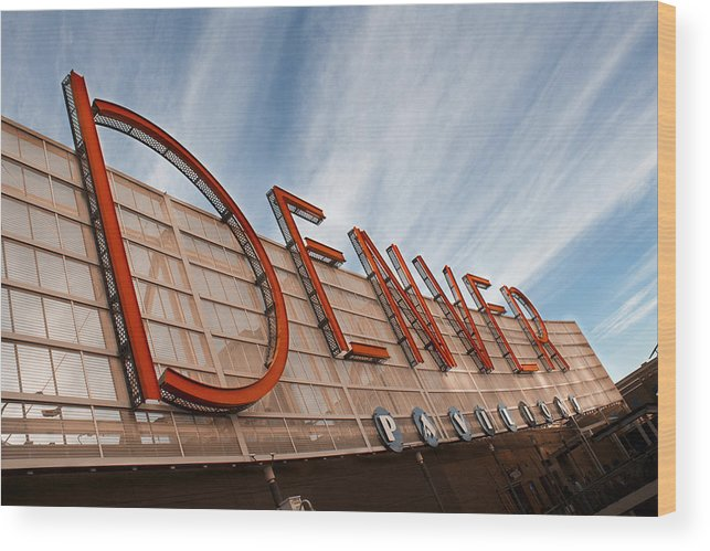 Denver Wood Print featuring the photograph Denver Pavilions by Amy Fregoso