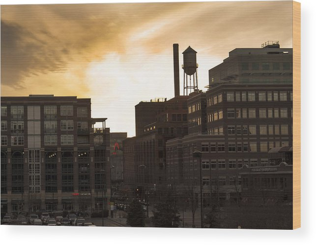 Water Tower Wood Print featuring the photograph Denver Water Tower by Amy Fregoso