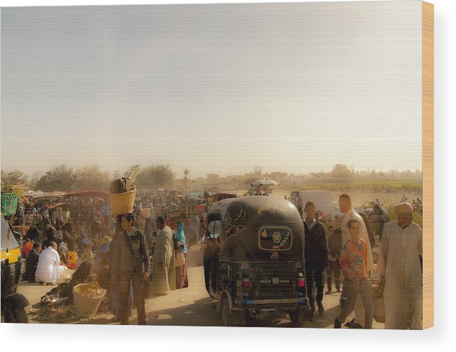Market Wood Print featuring the photograph Desert Market Scene by Michael Brewer
