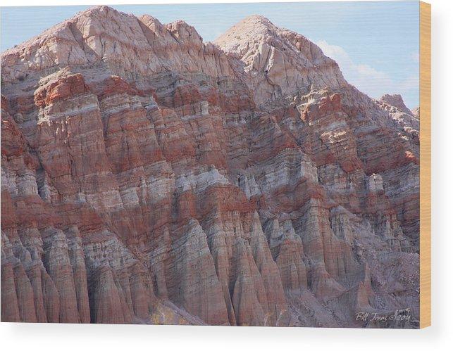 Mountain Wood Print featuring the photograph Desert Mountain by Bill Jonas