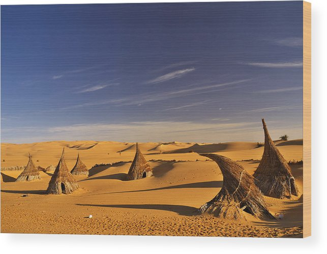 Landscape Wood Print featuring the photograph Desert Village by Ivan Slosar