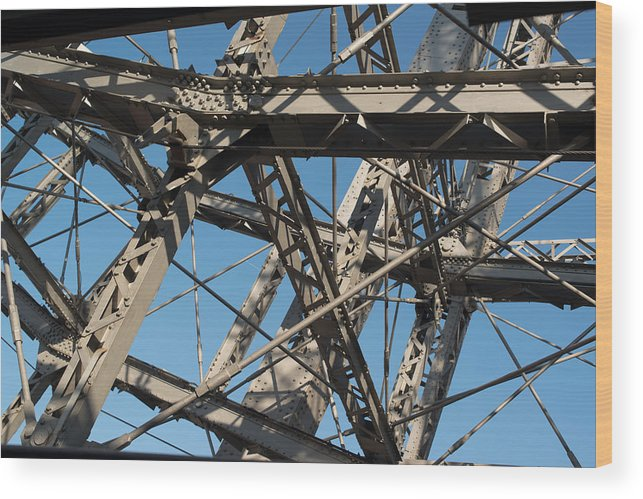 Vienna Wood Print featuring the photograph Detail Of Ferris Wheel At Vienna Prater by Frank Gaertner