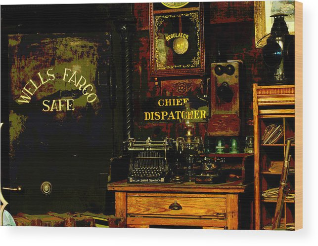 Ghost Town Museum Wood Print featuring the photograph Dispatcher's Office by Mike Flynn