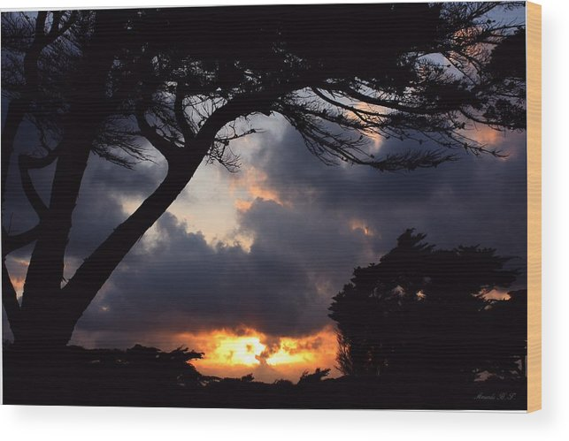 Dramatic Sky Wood Print featuring the photograph Distant Volcano by Amanda Holmes Tzafrir