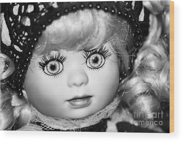 Doll Wood Print featuring the photograph Doll 11 by Robert Yaeger