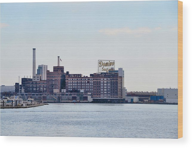 Domino Wood Print featuring the photograph Domino Sugars - Baltimore Maryland by Bill Cannon