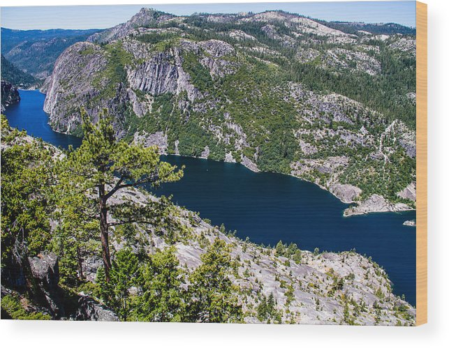 Yosemite Wood Print featuring the photograph Donnel Lake by Brian Williamson