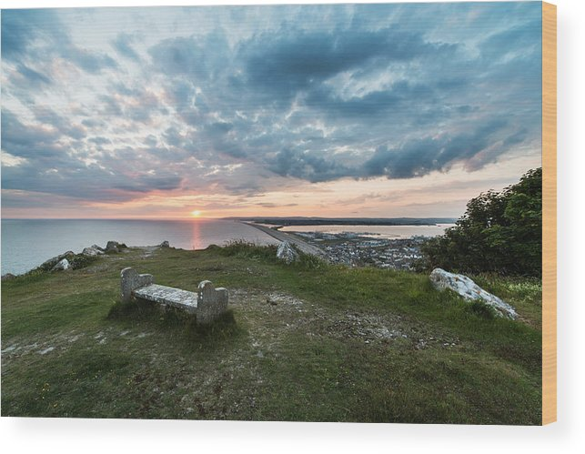 Europe Wood Print featuring the photograph Dorset Chesil Beach by Ollie Taylor