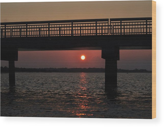 Sunset Wood Print featuring the photograph Down Under by Jenny McAdory