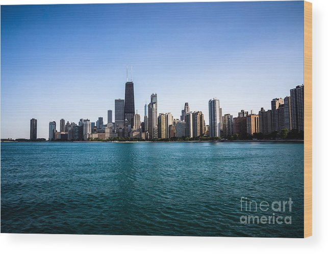 America Wood Print featuring the photograph Downtown City Buildings In The Chicago Skyline by Paul Velgos