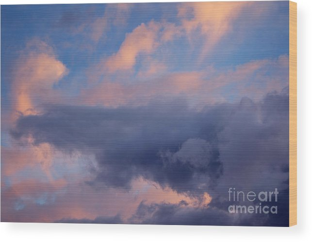 Cloud Wood Print featuring the photograph Dramatic Clouds by Konstantin Sutyagin