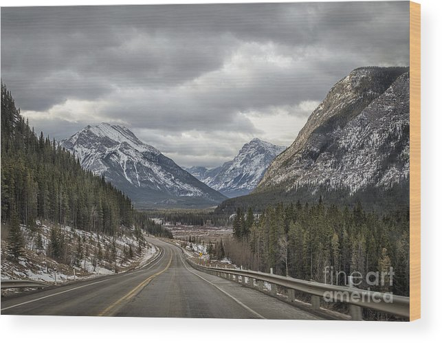 Banff Wood Print featuring the photograph Dream Journey by Evelina Kremsdorf