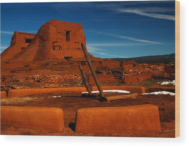 Landscape Wood Print featuring the photograph Dualing Faiths by Jeannette Wood