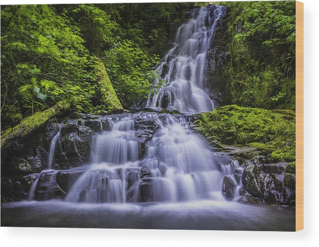 Waterfalls Wood Print featuring the photograph Eads Creek Falls by Colby Drake