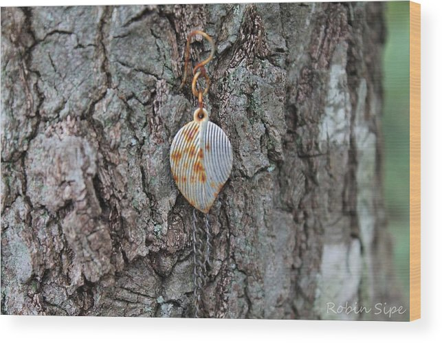 Earring Wood Print featuring the photograph Earring In A Tree by Robin Vargo