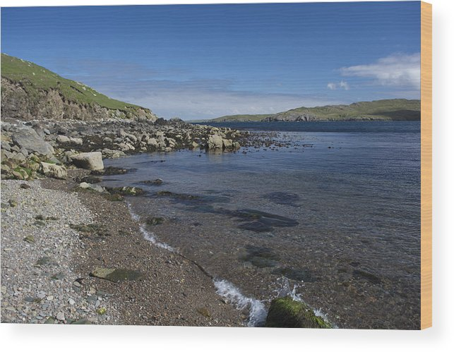 Landscape Wood Print featuring the photograph East Lunna Voe by Steve Watson