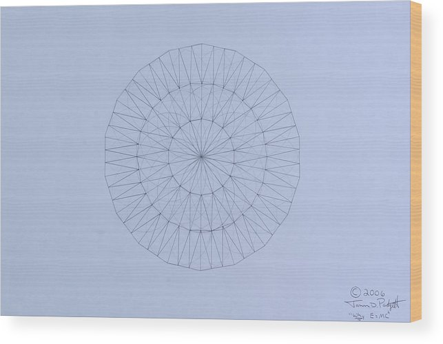 Jason Padgett Wood Print featuring the drawing Energy Wave 20 Degree Frequency by Jason Padgett