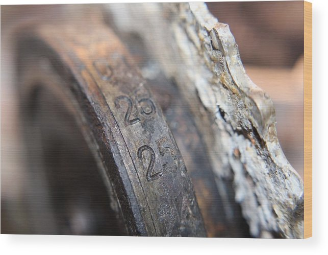 Enigma Rotor Wood Print featuring the photograph Enigma Rotor by Robert Phelan