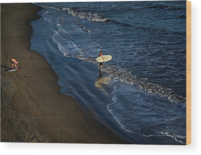 James David Phenicie Wood Print featuring the photograph Entering The Ocean. by James David Phenicie