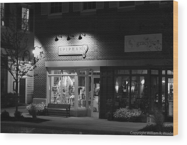 Store Front Wood Print featuring the photograph Epiphany by William Woide