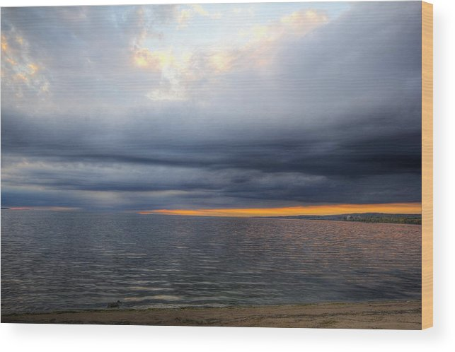 Evening Wood Print featuring the photograph Evening by Beverley Beaudette