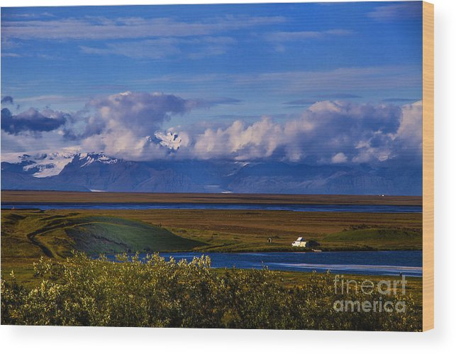 Glaciers Iceland Wood Print featuring the photograph Evening Glacier by Rick Bragan