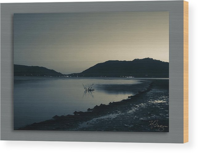 Big Bear Wood Print featuring the photograph Evening by Kevin Bergen