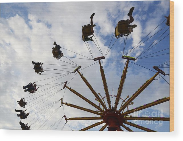 Fair Wood Print featuring the photograph Fairground Fun 3 by Bob Christopher