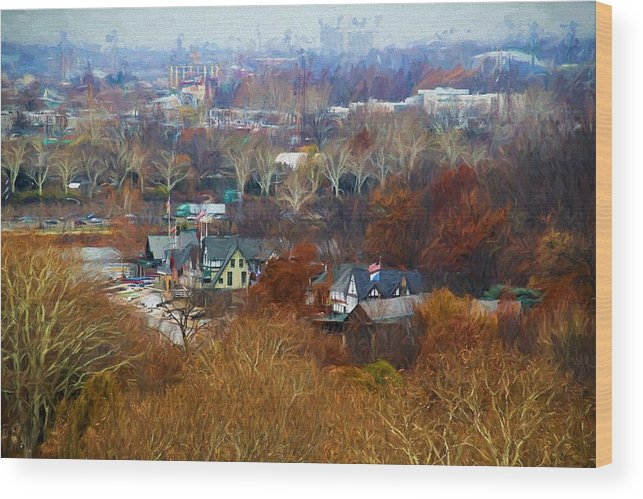 Boathouse Row Wood Print featuring the photograph Fall At Boathouse Row by Alice Gipson