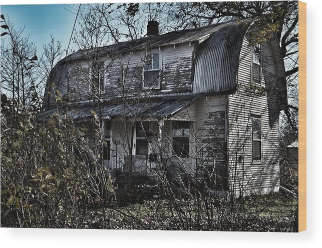 Rustic Wood Print featuring the photograph Family Home by Branden Simons