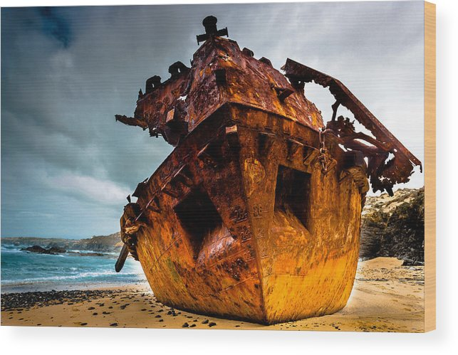 Boat Wood Print featuring the photograph Far From Home by Edgar Laureano