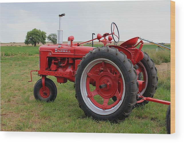 Mccormick Wood Print featuring the photograph Farmall by Trent Mallett