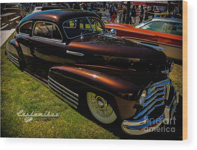 Customikes Wood Print featuring the photograph Fastback In Kandy by Customikes Fun Photography and Film Aka K Mikael Wallin