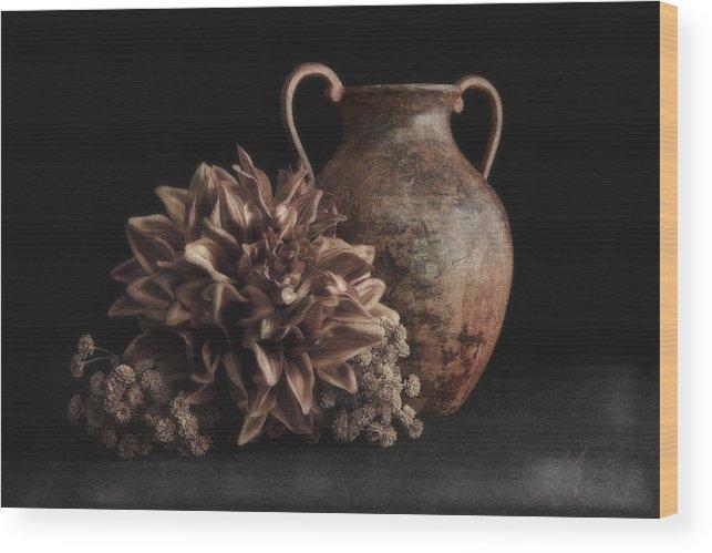 Arrangement Wood Print featuring the photograph Faux Flower Still Life by Tom Mc Nemar