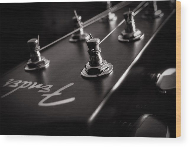 Guitar Wood Print featuring the photograph Fender Acoustic I by Bob Orsillo