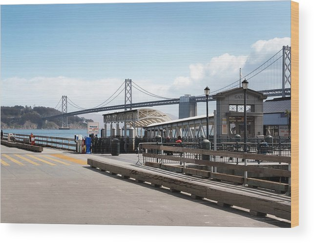 Port Wood Print featuring the photograph Ferry Terminal by Jo Ann Snover