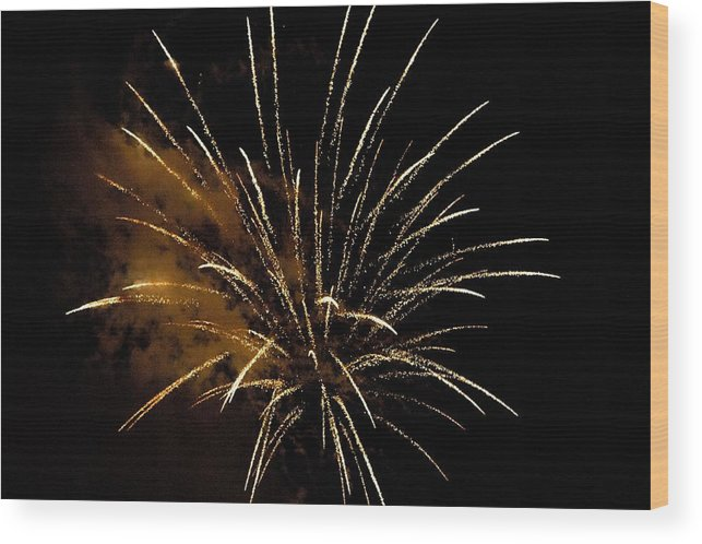 Sky Wood Print featuring the photograph Firework by FL collection