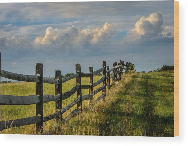 Battlefield Wood Print featuring the photograph First Fence by Pat Scanlon