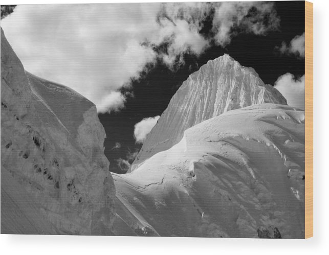 Peru Wood Print featuring the photograph First Sight Of Alpamayo by D Scott Clark