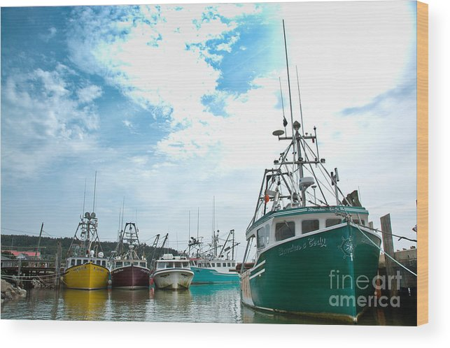Wood Print featuring the photograph Fishing Boats by Cheryl Baxter