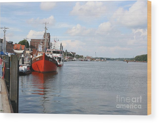 Fjord Wood Print featuring the photograph Fjord Schlei - Kappeln by Christiane Schulze Art And Photography