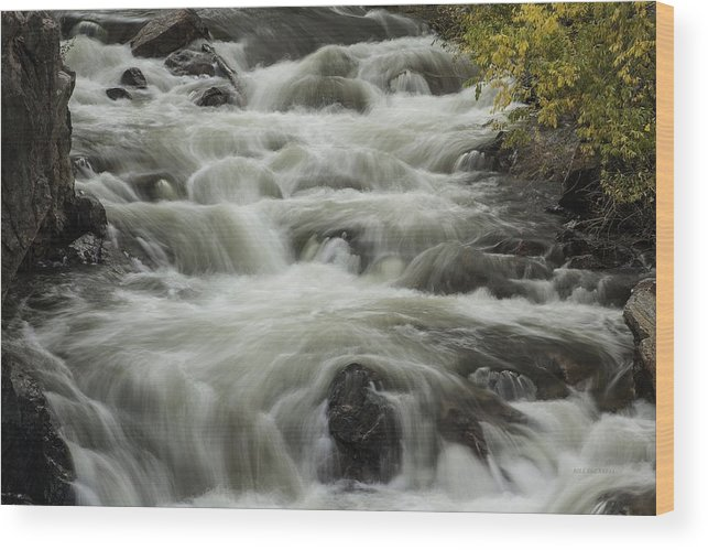 Waterfalls Wood Print featuring the photograph Waterflow by Bill Sherrell