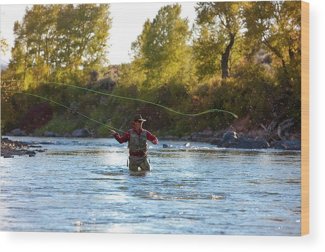 Colorado Wood Print featuring the photograph Fly Fishing by Jack Affleck